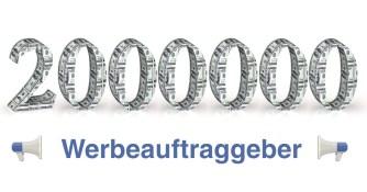 2000000 Werbeauftraggeber auf Facebook