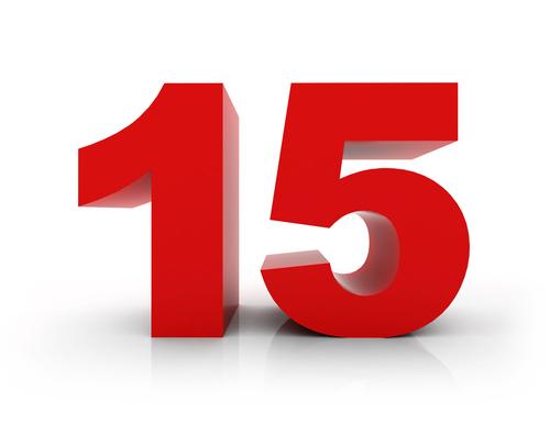 number 15 shutterstock_257460916
