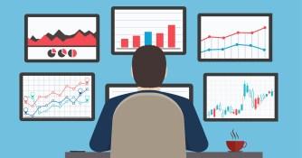 Workstation, web analytics information and development website statistic. by shutterstock.com