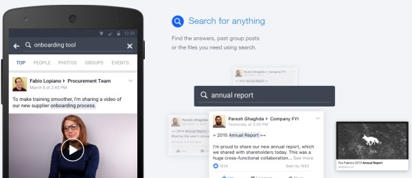 Workplace by Facebook Search