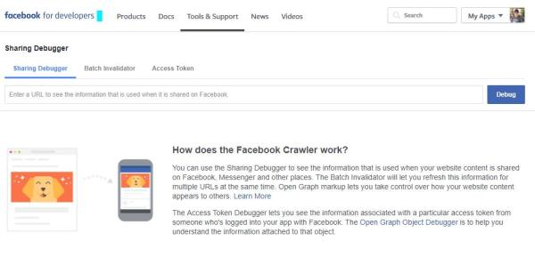 Der Sharing Debugger bei Facebook