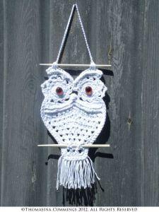 crochet owl macrame style