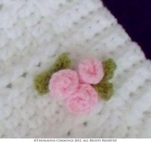 crochet rosebud