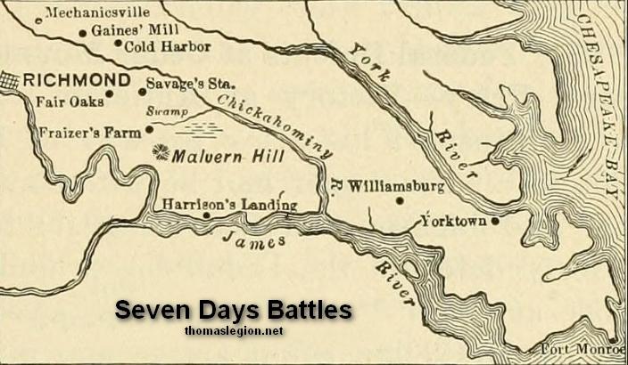 Image result for seven days battle civil war