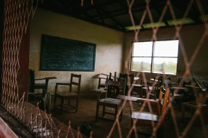 A normal classroom in Liberia