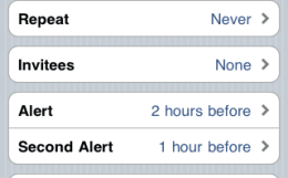 iOS 4.1 beta 2 calendar invites