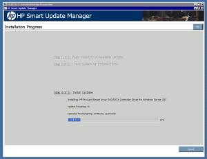 HP Smart Update Manager on Hyper-V Core Server
