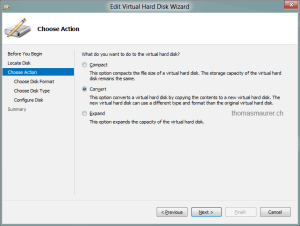Convert Virtual Hard Disk