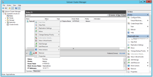 Hyper-V Replica Broker Cluster role