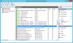 Hyper-V Replica Windows Firewall