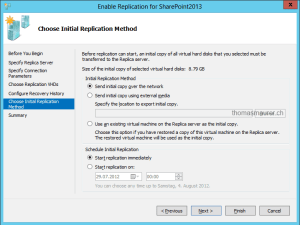 Hyper-V Replica initial replication