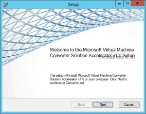 Microsoft Virtual Machine Converter