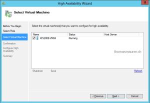 Select Virtual Machine