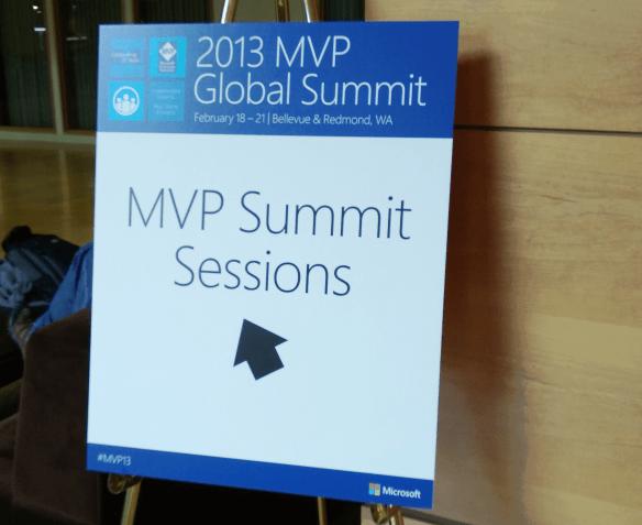 Microsoft MVP Summit Sessions