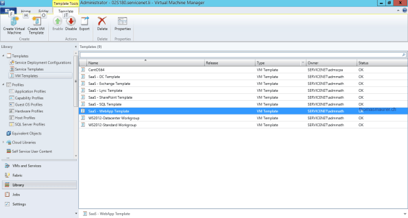 Export Templates from Virtual Machine Manager
