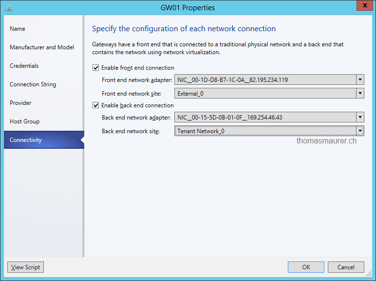 how to connect virtual machine to internet hyper v