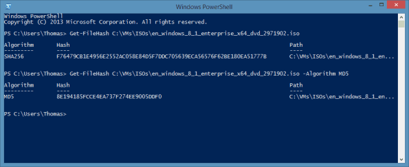 PowerShell Get-FileHash