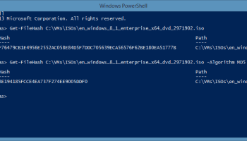 How to check MD5 File Checksum with Windows - Thomas Maurer