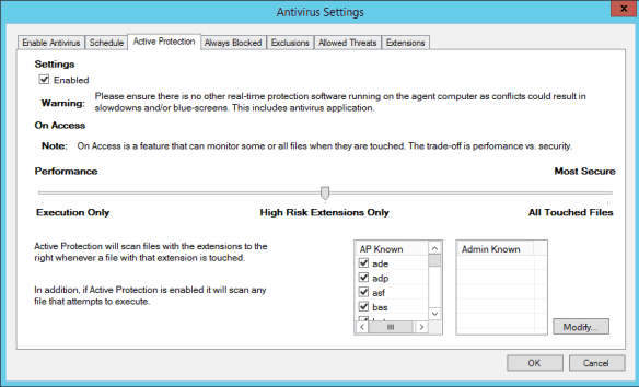 5Nine Hyper-V Security Antivirus Settings