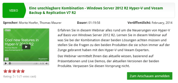 Veeam Webinar Hyper-V 2012 R2
