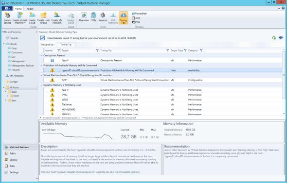 Savision Cloud Advisor VMM Tuning Tips