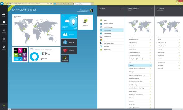 New Microsoft Azure Portal