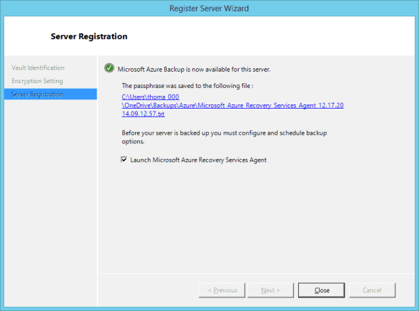 Azure Client Backup