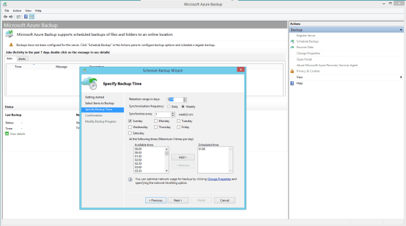 Microsoft Azure  Backup