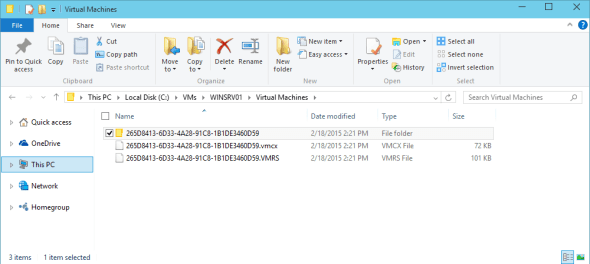 Hyper-V vNext VM Configuration Files