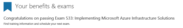 Microsoft Exam 70-533 Implementing Microsoft Azure Infrastructure Solutions