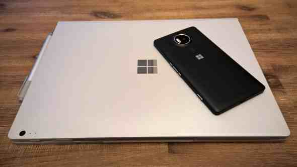 Microsoft Lumia 950 XL and Surface Book