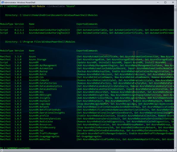 Azure PowerShell Module