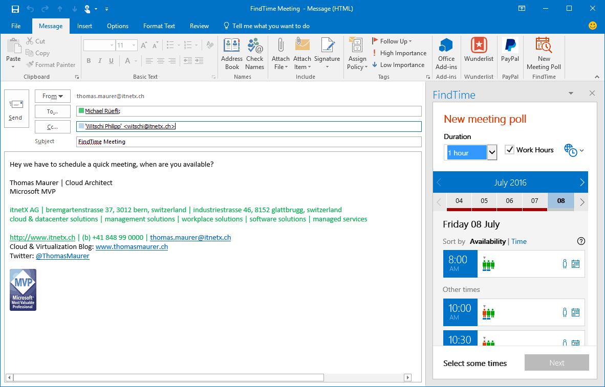 Schedule an Email to Be Sent at a Later Time in Outlook