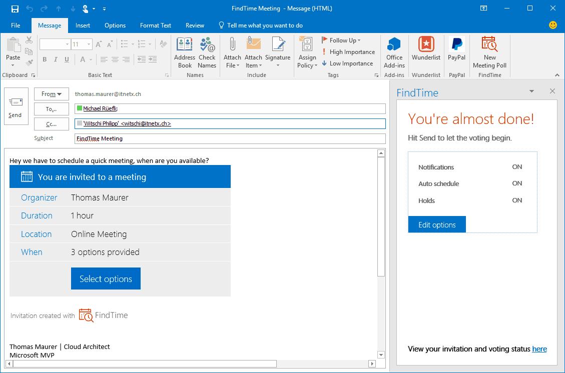 how to send a webex invite