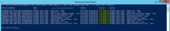 Windows Azure Pack Version PowerShell