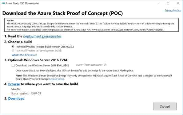 Azure Stack POC Downloader