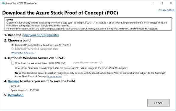 Azure Stack POC Downloader