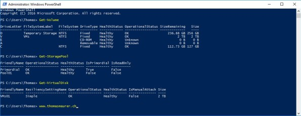 Azure VM Storage Spaces PowerShell