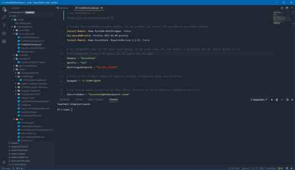 Visual Studio Code Theme Ayu Mirage