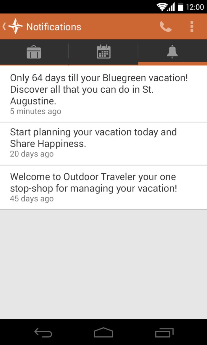 Corporate booking app, android design