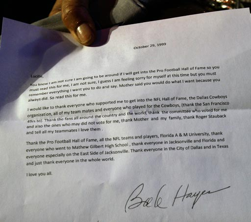 Purported posthumous letter from Bob Hayes, click for 600K high-res JPEG