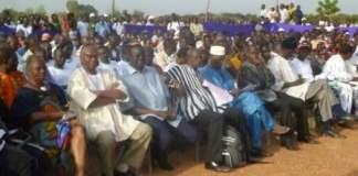 Germaine Pitroipa (1ere gauche) Ouagadougou le 15 octobre 2012 (photo Bruno Jaffre)