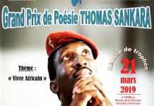 Visuel Grand prix de poésie Thomas Sankara 2019