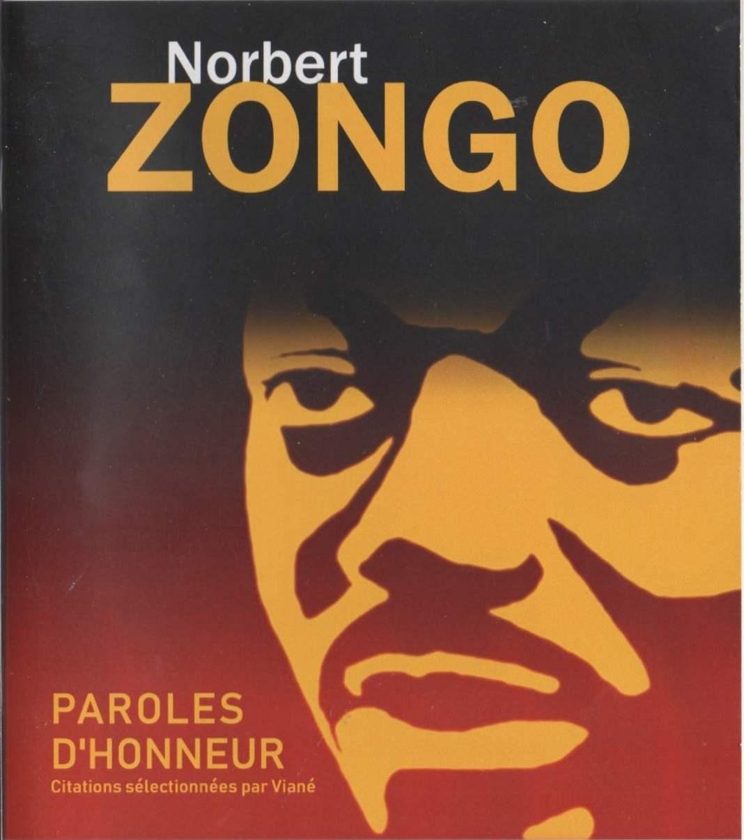 Couverture recueil de citations Norbert Zongo par Viané