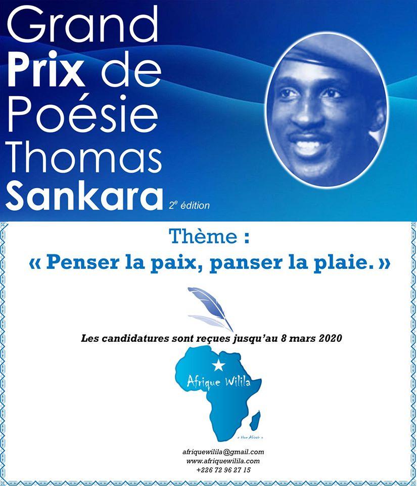 Grand prix de poésie Thomas Sankara 2ème édition