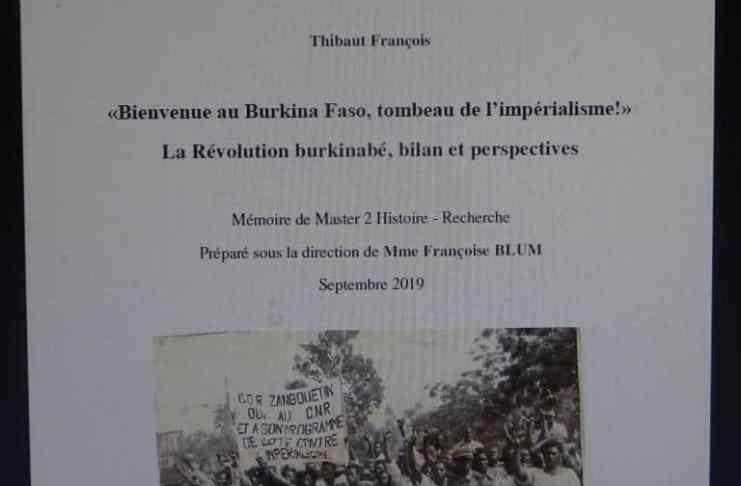 Mémoire de François Thibaut