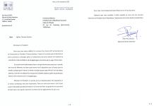 Lettre du député JP Lecoq (novembre 2020)