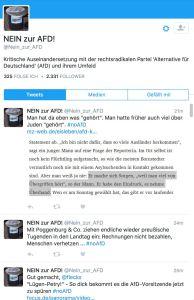 """Twitter-Account """"Nein zur AfD"""""""