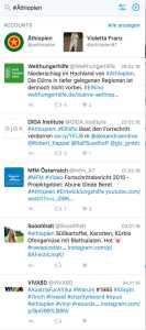 Interessiert uns nicht: Afrika und Äthiopien © twitter Screenshot