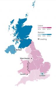 Die Brexit - Karte der BBC